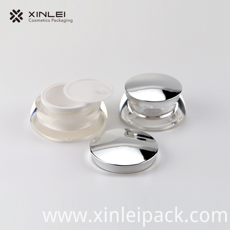 Round Face Eye Cream Plastic Jar